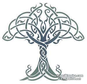 Keltischen Baum Des Lebens Schablone Zum Zeichnen Im Internet Kaufen