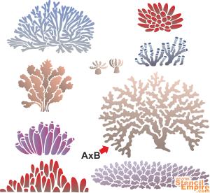 Neun Korallen Schablone Zum Malen Im Internet Kaufen
