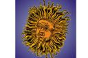 Трафарет Средневековое солнце