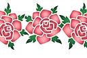 Цветок розы 1B