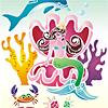 Schablonen für die Raumdekor des Kindes - Meeresmärchen
