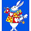 Schablonen für die Raumdekor des Kindes - Alice im Wunderland