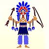 Schablonen für die Raumdekor des Kindes - Indianer