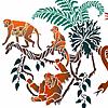 Schablonen für die Raumdekor des Kindes - lebendigen Wald