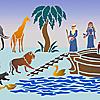 Schablonen für die Raumdekor des Kindes - Arche Noah