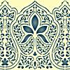 Schablonen für die Wandkanten  in ethnischen Stil