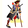 Schablonen für die Raumdekor des Kindes - Piraten