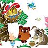 Schablonen für die Raumdekor des Kindes - der Bär und seine Freunde